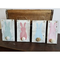 Bunny Tails - Reclaimed Wood Wall Plaque