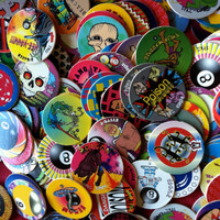 100 POGS from the vintage game of pogs - collectibles, craft supplies