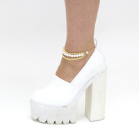 Pearl and Gold Chain Anklets