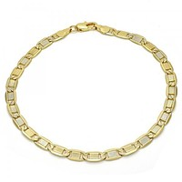 Gold Layered 04.63.1337.10 Basic Anklet, Polished Finish, Golden Tone