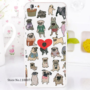 Pug art Treasure Design Funny lovely heart Pugs For iPhone 6 6s 6g iphone6+ 6 plus