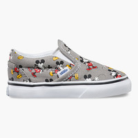Vans Disney Mickey Mouse Classic Toddlers Slip-On Shoes Multi  In Sizes