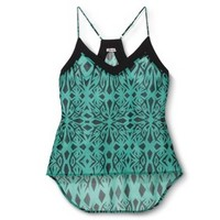 Junior's Printed High Low Tank - Assorted Colors