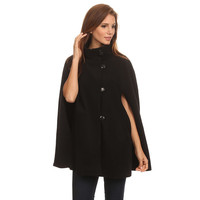 Womens Fleece Cape Poncho