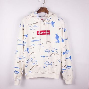 Round-neck Pullover Couple Embroidery Hoodies [9231075655]