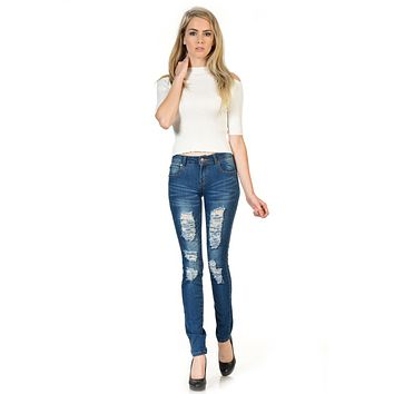 Sweet Look Premium Edition Women's Jeans - Skinny - Style WY5026E-R