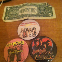 """3 Pack The Runaways Large 2-1/4"""" Buttons Joan Jett and the Blackhearts"""