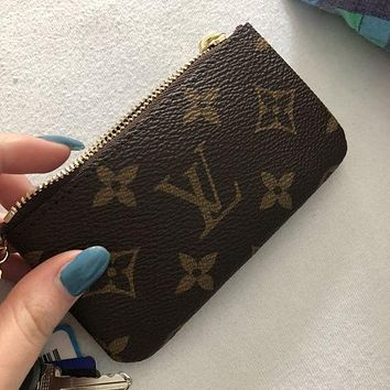 Louis Vuitton LV Classic Mini Zipper Key Case Fashion Men and Women Coin Purses Bag Pendants