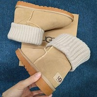 UGG Fashion Plush leather boots boots in tube Boots shoes