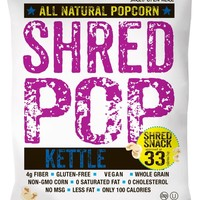 SHRED POP Kettle Popcorn 1 Ounce Bags - Pack of 24