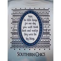 SALE Southern Chics Enjoy the Little Things Comfort Colors Long Sleeve Bright T Shirt