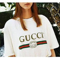 """""""Gucci""""Hot letters print T-shirt top For Black Firday"""