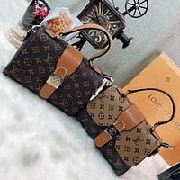 LV Fashion classic print cross shoulder bag handbag lady