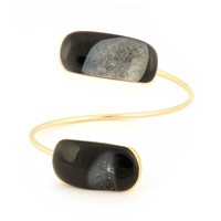Sole Society Natural Druzy Agate Bangle