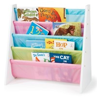 Tot Tutors Kids' Book Rack, Pastel