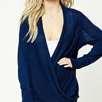 Contemporary Surplice Sweater
