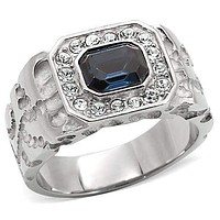 Mens Stainless Steel Rings TK02210 Stainless Steel Ring with Crystal