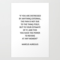 Stoic Philosophy Quote - Marcus Aurelius - If you are distressed Art Print by Love from Sophie