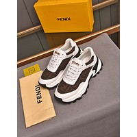 FENDI  Men Fashion Boots fashionable Casual leather Breathable Sneakers Running Shoes07110gh