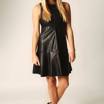 You have my vote Faux leather dress