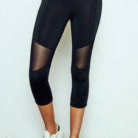 MESH PANEL ENERGY CROPPED LEGGING - PROMO 50% OFF