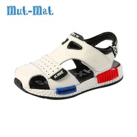 Genuine Leather Sandals Male Toe Cap Covering Cowhide Kids Sandals Children Baby Toddler Shoes Boys Shoes For Girls