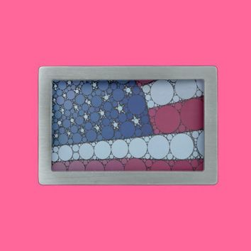American Flag Belt Buckle from Zazzle.com