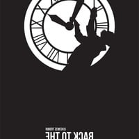 Back to the Future Clock Tower Minimalist Movie Poster