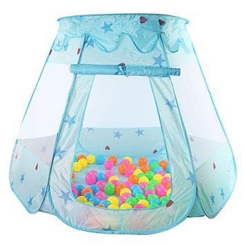 Indoor Polyester Play House Baby Ocean Ball Pit Pool Kids Princess Hexagonal Tent