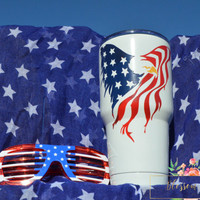 Painted Rtic, Painted yeti, Powder coated rtic, Powder coated Yeti, Custom Yeti, Custom Rtic, Custom tumbler, Eagle tumbler