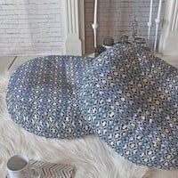 Lisa Argyropoulos Blue Jewels Floor Pillow Round