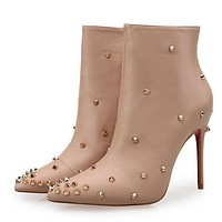 Christian Louboutin Women Fashion Casual Heels Shoes Boots-12