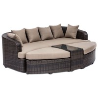 Zuo® Cove Beach 4-Piece Lounge Set in Brown