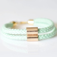 Double Tube Rope Bracelet - Available in 11 Colors