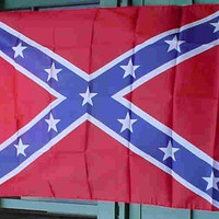 """Confederate Rebel Poly Flag 3x5 foot  (sometimes referred to as """"Battle Flag"""") Limited quantity"""