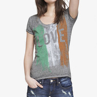 BURNOUT GRAPHIC TEE - IRISH LOVE from EXPRESS