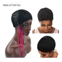 Cornrow Wig Cap For Making Wigs With Adjustable Strap Braided Cap For Weave Wig  Hair Products Women Hairnets grid for the hair