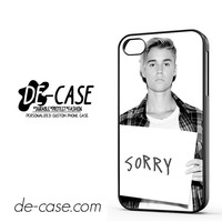 Justin Bieber Sorry Cover DEAL-6056 Apple Phonecase Cover For Iphone 4 / Iphone 4S
