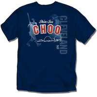 Cleveland Indians MLB Shin-Soo Choo Players Stitch Mens Tee (Navy) (2X Large)