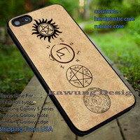 Supernatural Signs Vintage iPhone 6s 6 6s+ 5c 5s Cases Samsung Galaxy s5 s6 Edge+ NOTE 5 4 3 #movie #supernatural #superwholock #sherlock #doctorWho dt