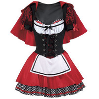 Lil Red Hood Dress - New Age, Spiritual Gifts, Yoga, Wicca, Gothic, Reiki, Celtic, Crystal, Tarot at Pyramid Collection