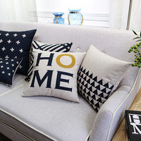 Customade Nordic style Decorative Pillow black and white cotton Cushion   stylish and comfortable Sofa Cushions