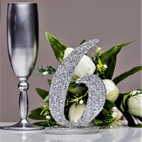 Table numbers wedding Glitter Table Numbers Decor Silver Wedding Silver Glittery Table Numbers Wedding Wooden Table Numbers Silver glitter