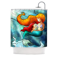 "Mandie Manzano ""I Remember Love"" Mermaid Shower Curtain"