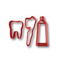 Tooth, Toothbrush, and Toothpaste Cookie Cutter (Set)