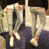 Ripped Slim Fit Designer Jeans