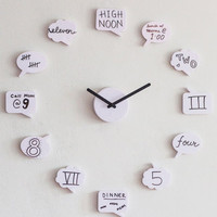 ModCloth Quirky Tick Talk Clock