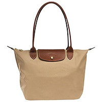 "Small tote bag L ( beige ) by longchamp paris "" LE PLIAGE"" 100% authentic original from PARIS FRANCE"