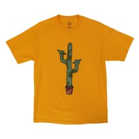 Shaka Saguaro Cactus yellow-honey tee by Altru Apparel