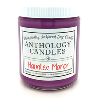 Haunted Manor Candle - Anthology Candles, Disney Candles, Scented Soy Candle, 8 oz Jar